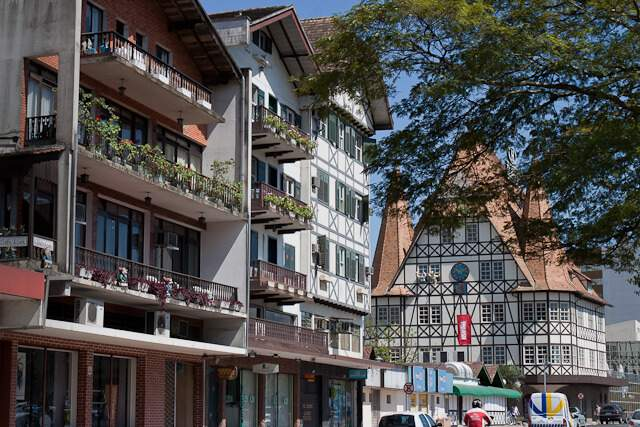 Cidade de Blumenau em Santa Catarina